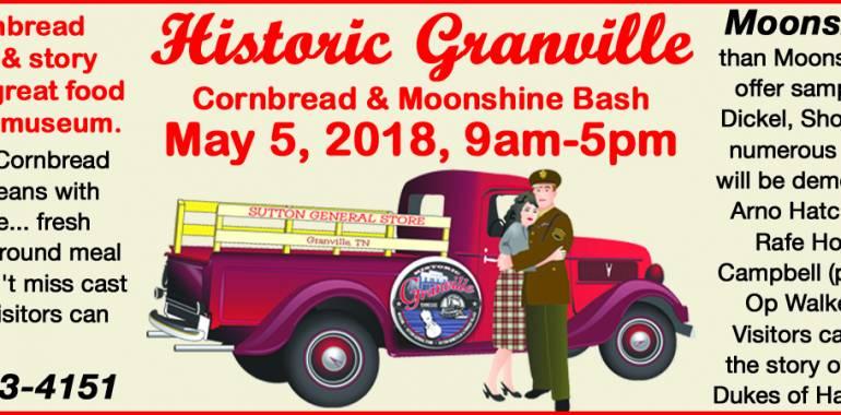 Cornbread and Moonshine Bash-May 5, 2018