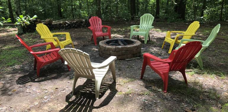 Fall is in the Air!  Come gather around the Campfire at Deer Creek Cabin!