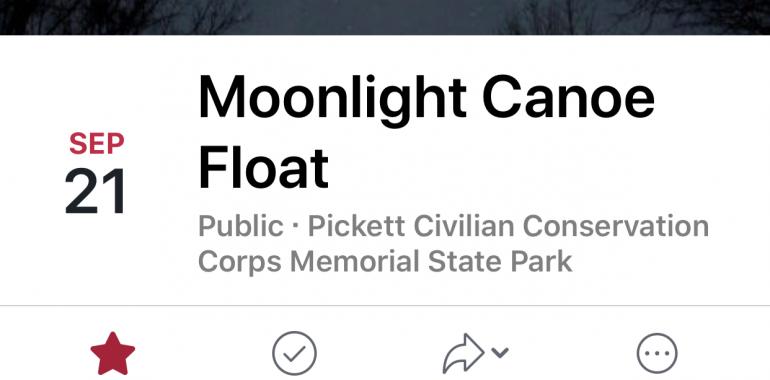 Moonlight Canoe Float-September 21, 2018