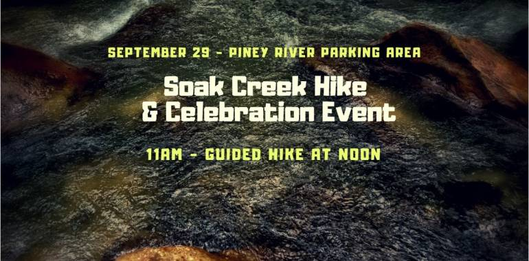 Soak Creek Hike & Celebration Event-September 29, 2018
