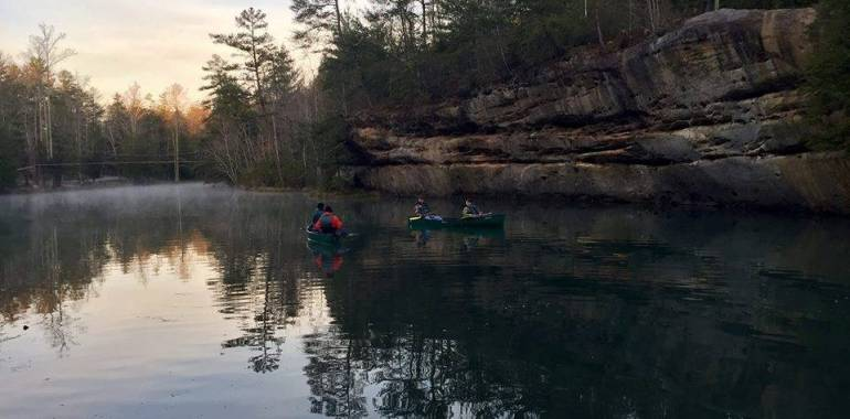 Afternoon Canoe Float-Pickett State Park-January 18, 2019