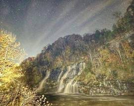 Moonlight Hike at Twin Falls-Rock Island State Park-Feb. 22, 2019