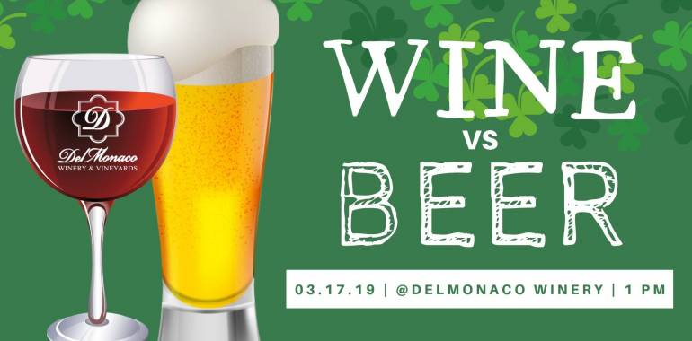 Wine vs Beer-Delmonaco Winery & Vineyards-March 17, 2019