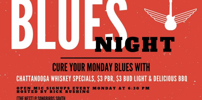 Blues Night Open Jam-Songbirds in Chattanooga, TN-March 24, 2019