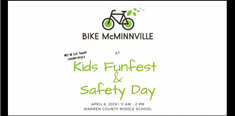 Kids Funfest & Safety Day-April 6, 2019-Main Street Mcminnville, TN