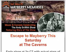 """Escape to """"Mayberry"""" at The Caverns-May 25, 2019"""