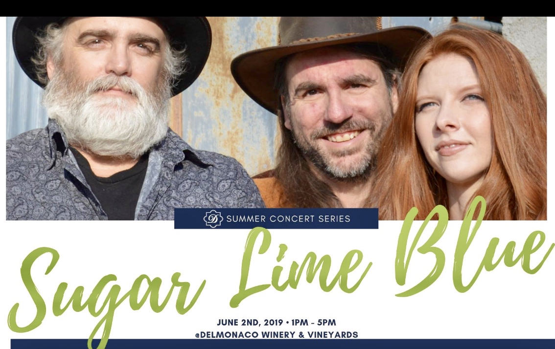 Sugar Lime Blue Concert at DelMonaco Winery-June 2, 2019