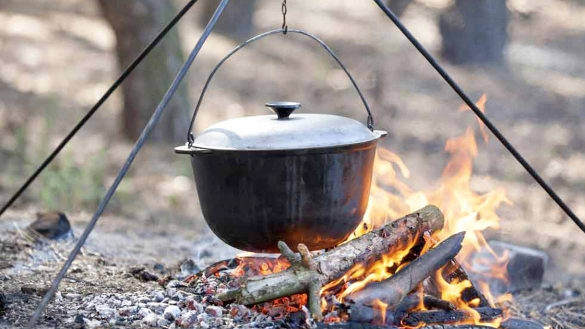 Dutch Oven Campfire at Rock Island State Park-June 14, 2019