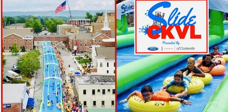 Slide CKVL! Red, White & Boom- July 6 & 7, 2019-Downtown Cookeville, TN