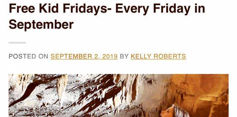 Free Kid Friday at Cumberland Caverns through September