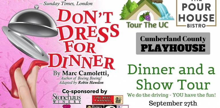 """Don't Dress for Dinner"" & a Show Tour-September 27, 2019"