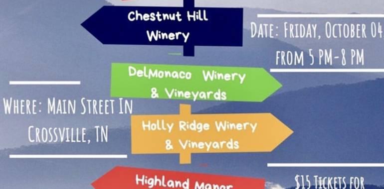 Wine at the Crossroads-Main Street-Crossville, TN-October 4, 2019