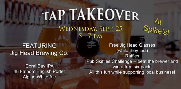 Tap Takeover @ Spike's Sports Grille-September 25, 2019