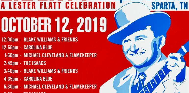 A Lester Flatt Celebration at Liberty Square in Sparta, TN-October 12, 2019