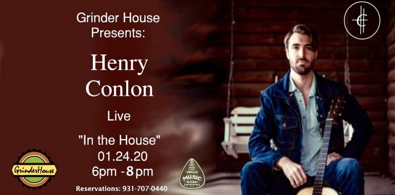 "Henry Conlon live ""In the House"" Grinder House Coffee-January 24, 2020"