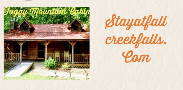 Make your Getaway to Fall Creek Falls! Cabins & Homes to suit all your needs!